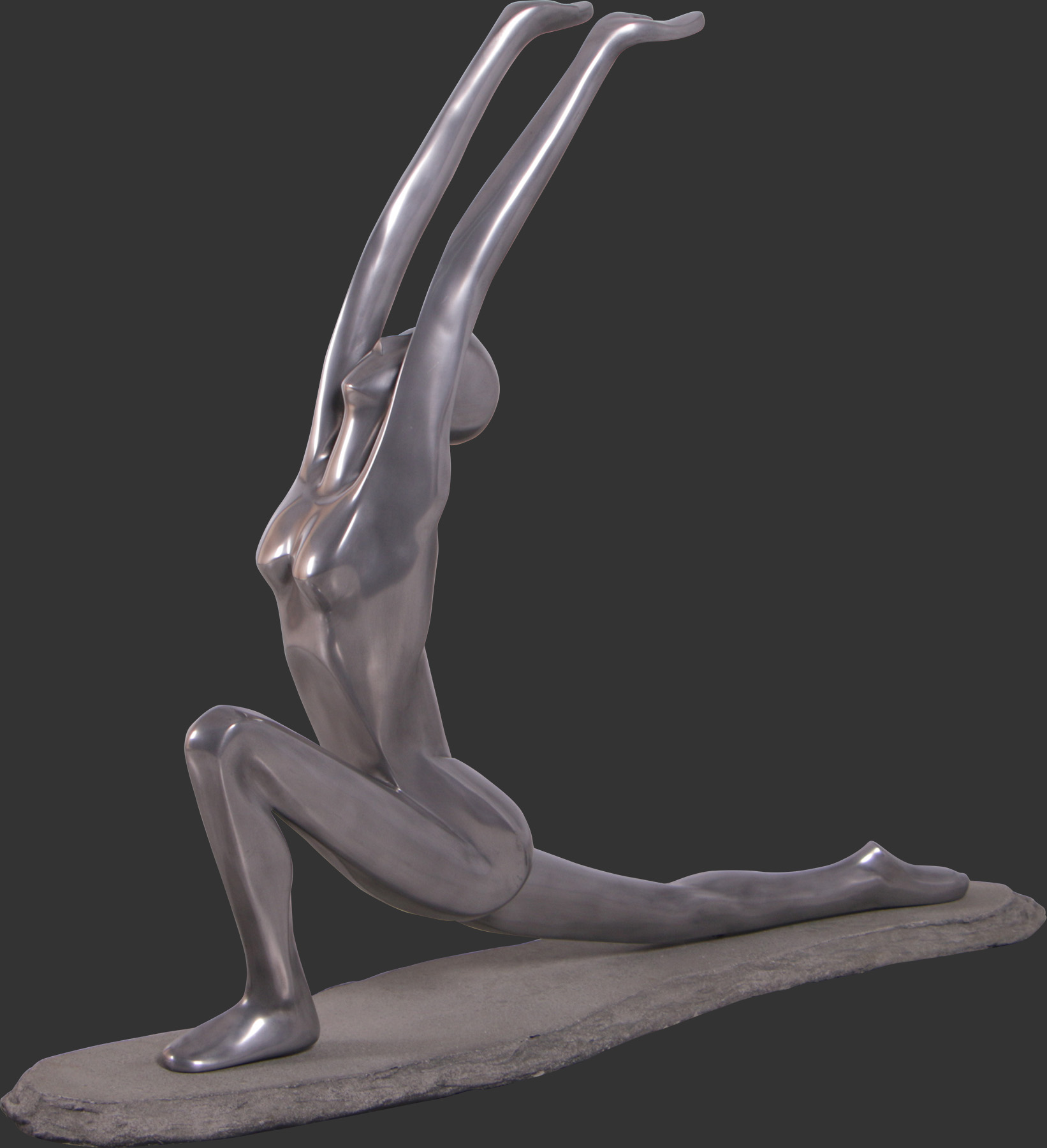 Yoga Worship Pose State - Polished Aluminum
