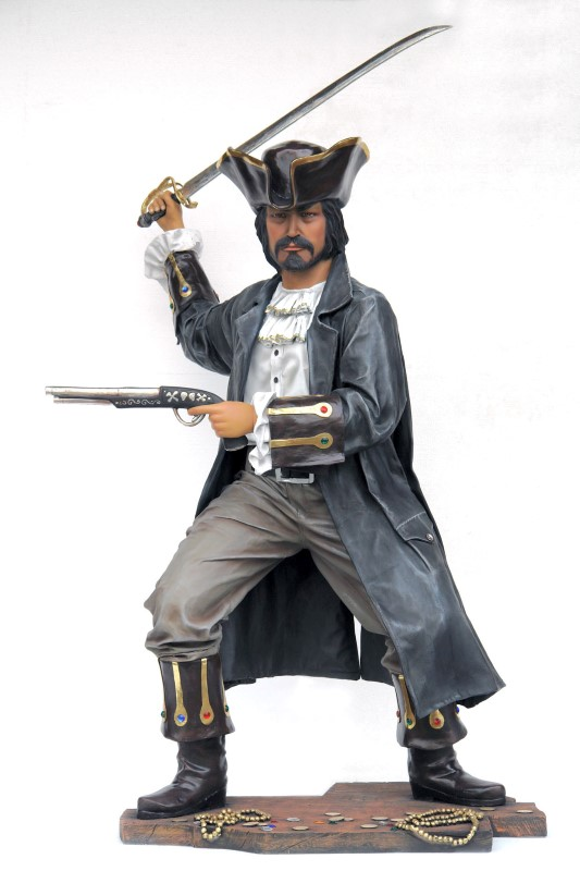 Buccaneer Pirate with Sword and Pistol