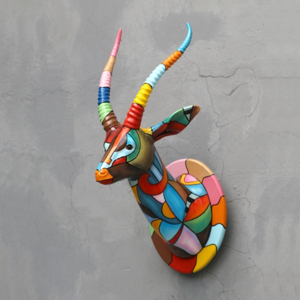 Gazelle Head Statue Pop-art