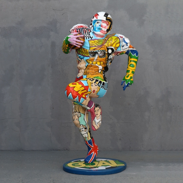 Football Player Pop-art statue