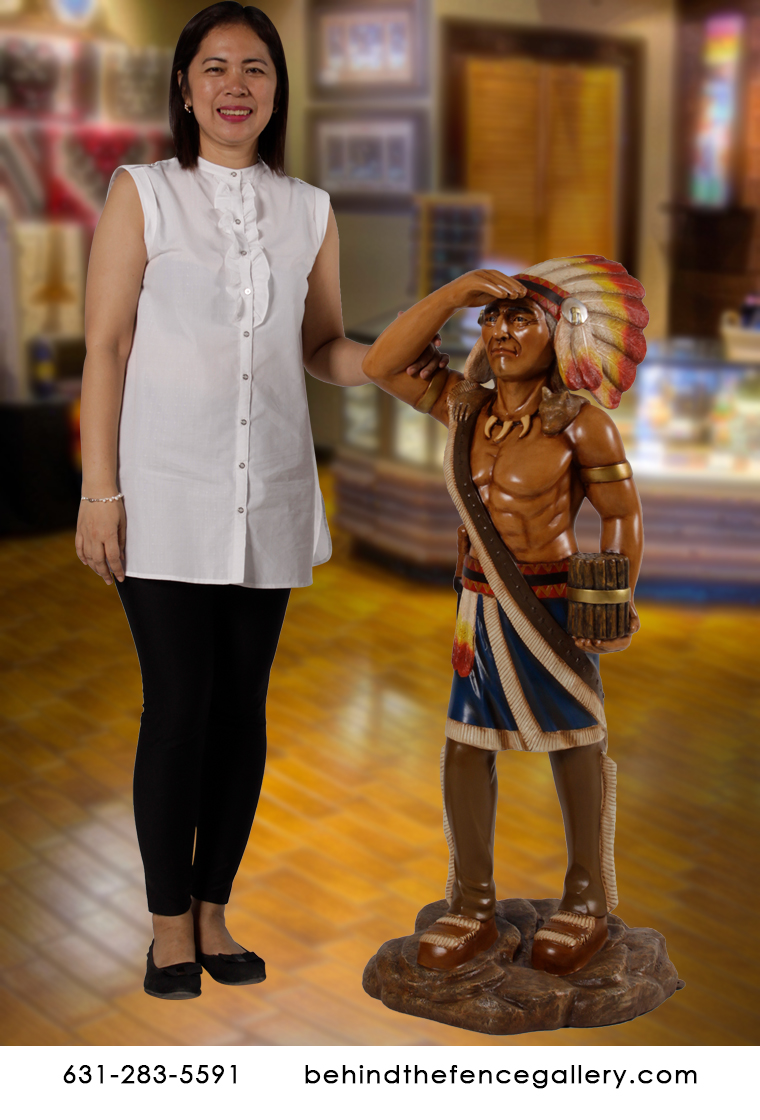 3 ft. Tobacco Store Indian Chief Statue
