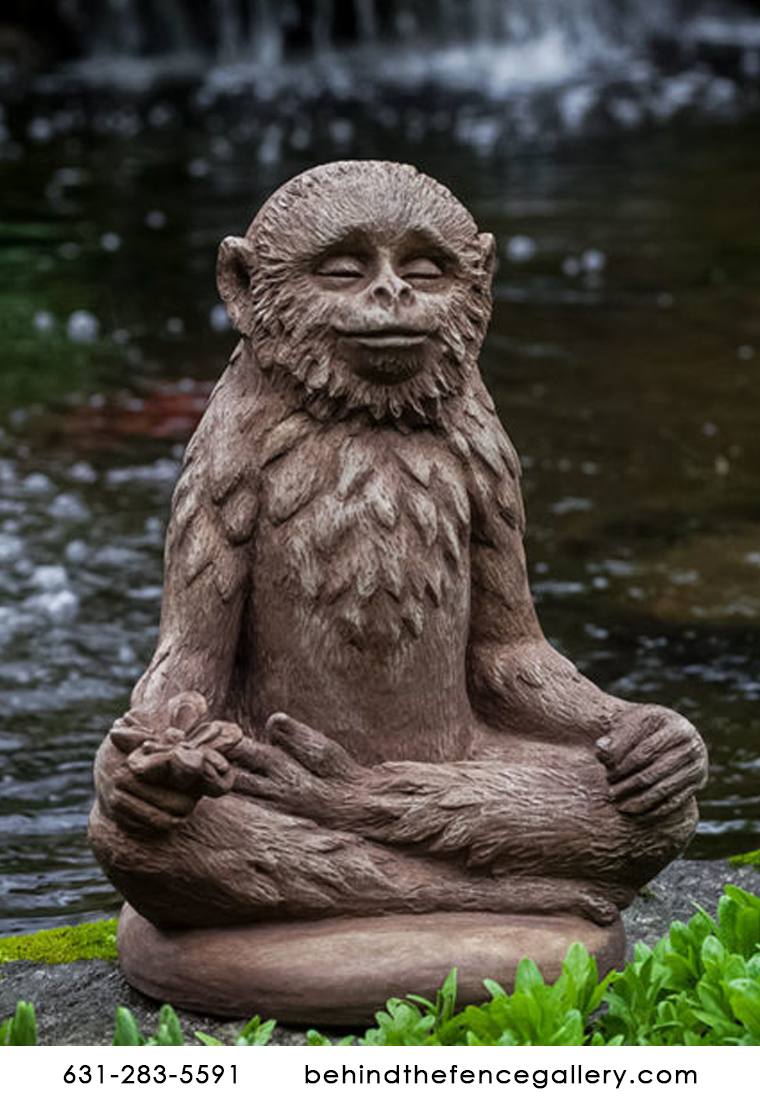 Doobie the Cast Stone Zen Monkey