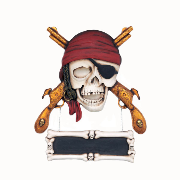 Reviews Pirate Skull With Guns Wall Decor Pirate Skull