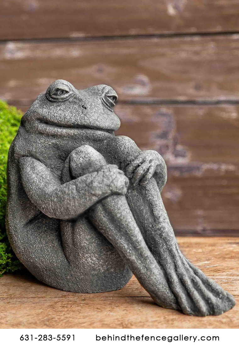 Fern the Sitting Stone Frog Statue