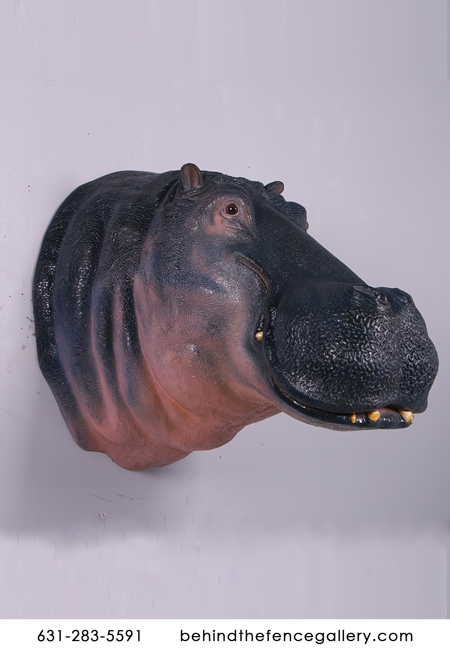 Hippo Wall Mount Statue