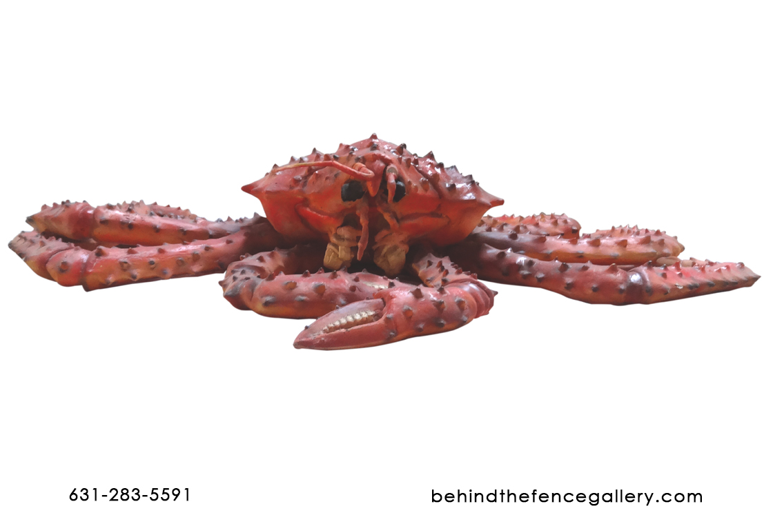 Life Size Red King Crab Fiberglass Statue