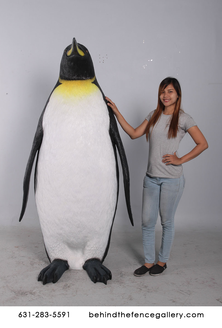 Giant King Penguin Larger than Life 6ft Statue