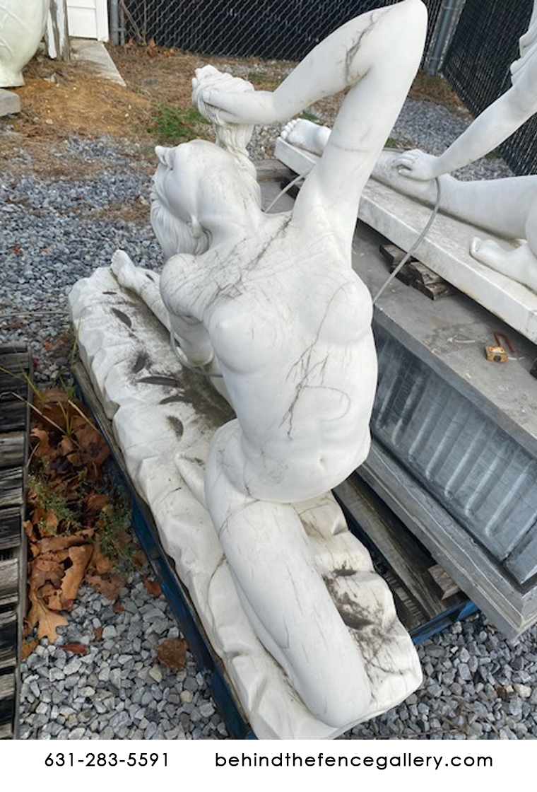 Liquidation Naked Lady Leaning Backwards on Carved Base