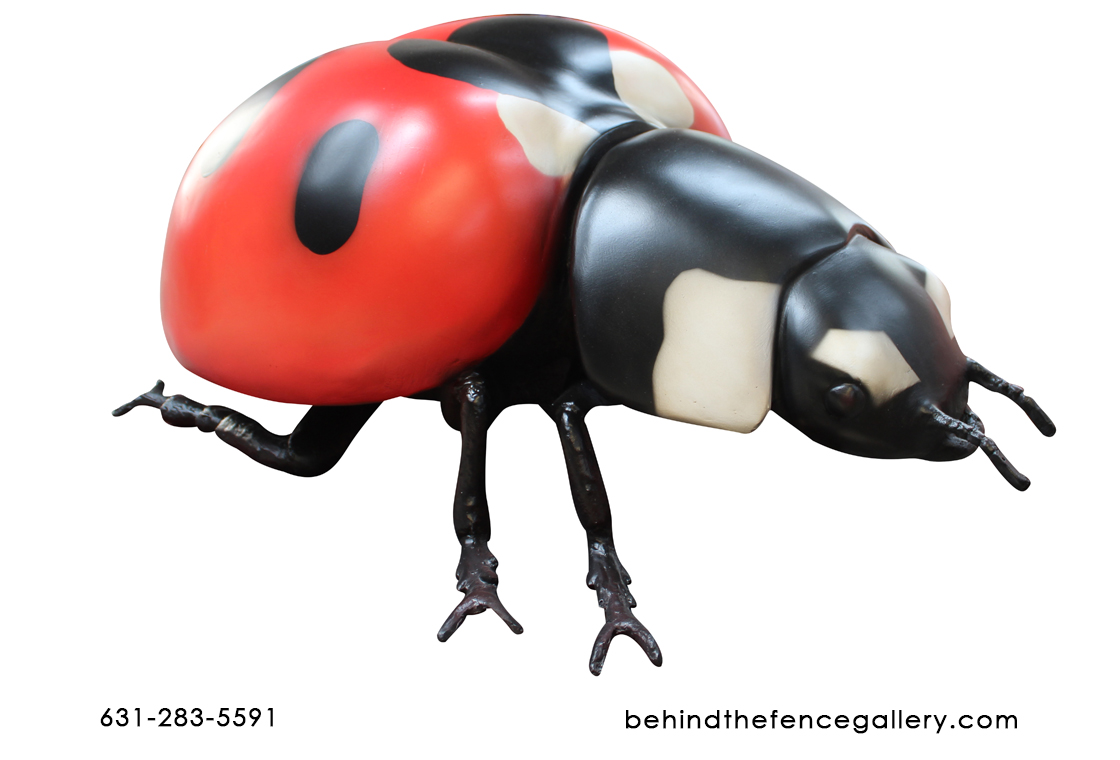 Fiberglass Larger than Life Ladybug Beetle Statue