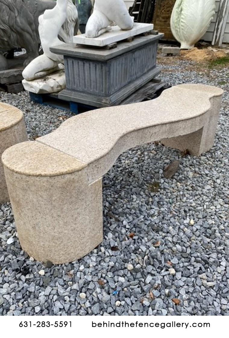 Liquidation Marble Wave Style Bench