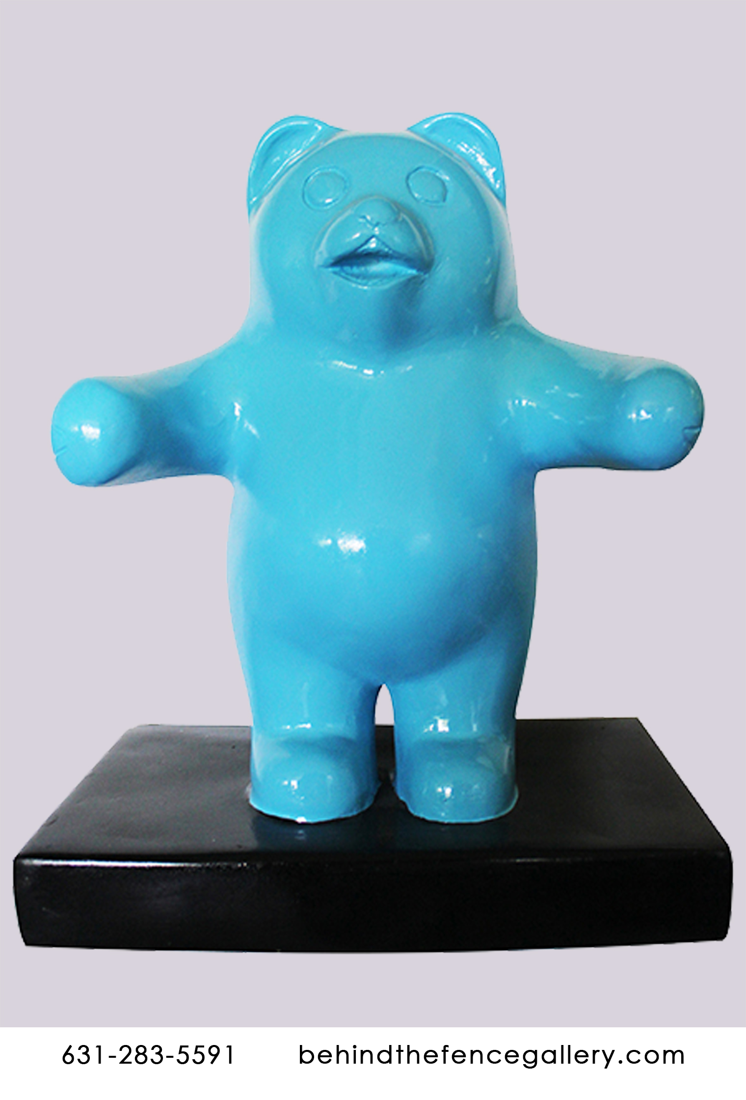 Mini Blue Gummy Bear Wall Statue