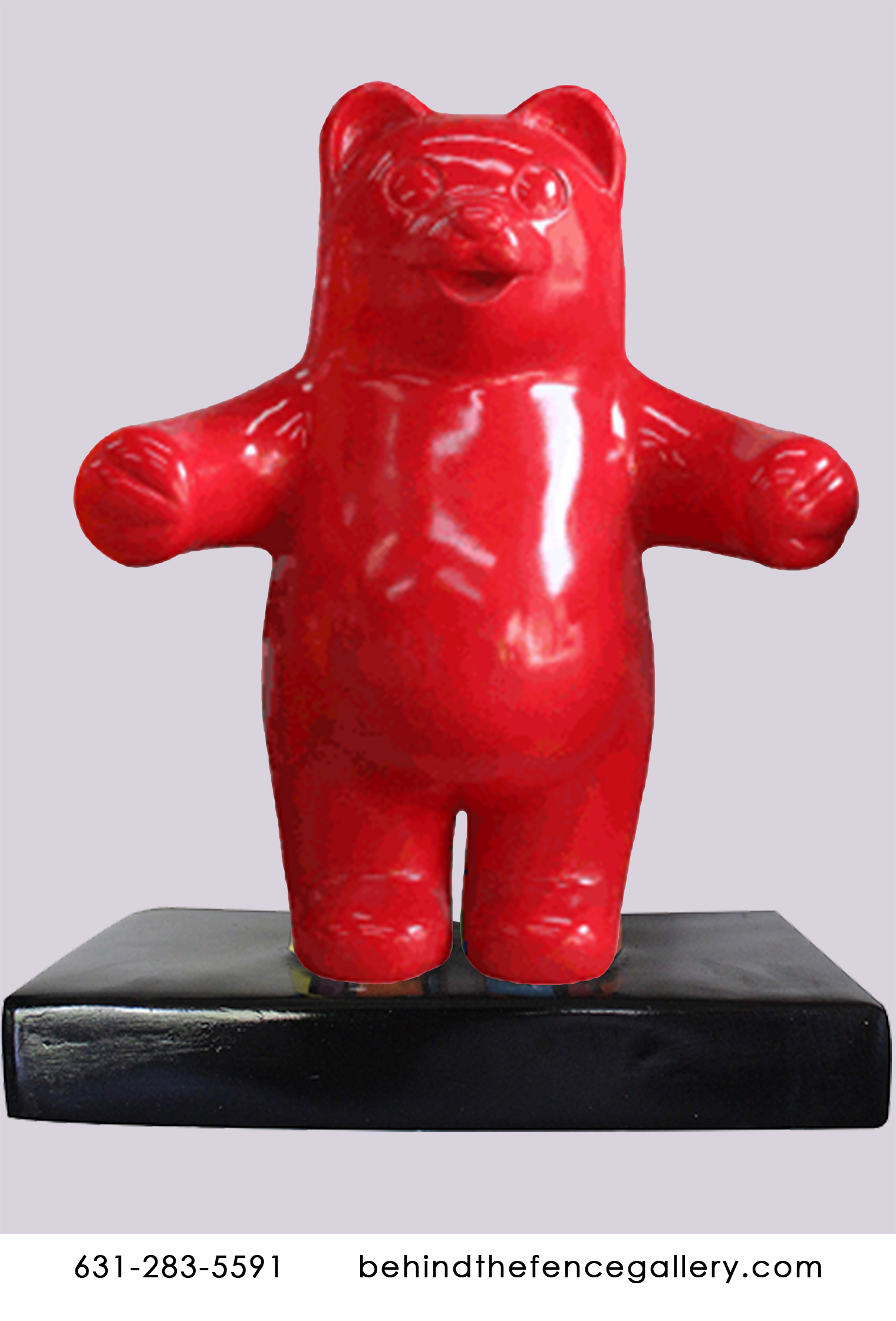 Mini Red Gummy Bear Wall Statue