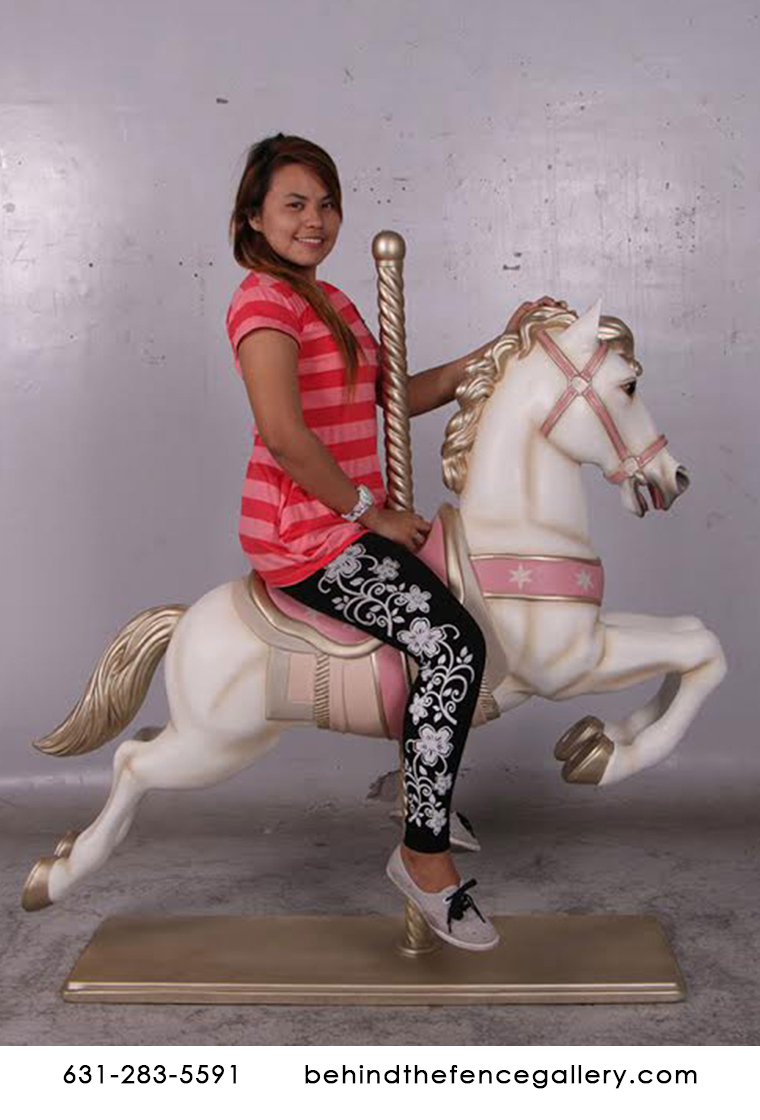 Off White Carousel Horse