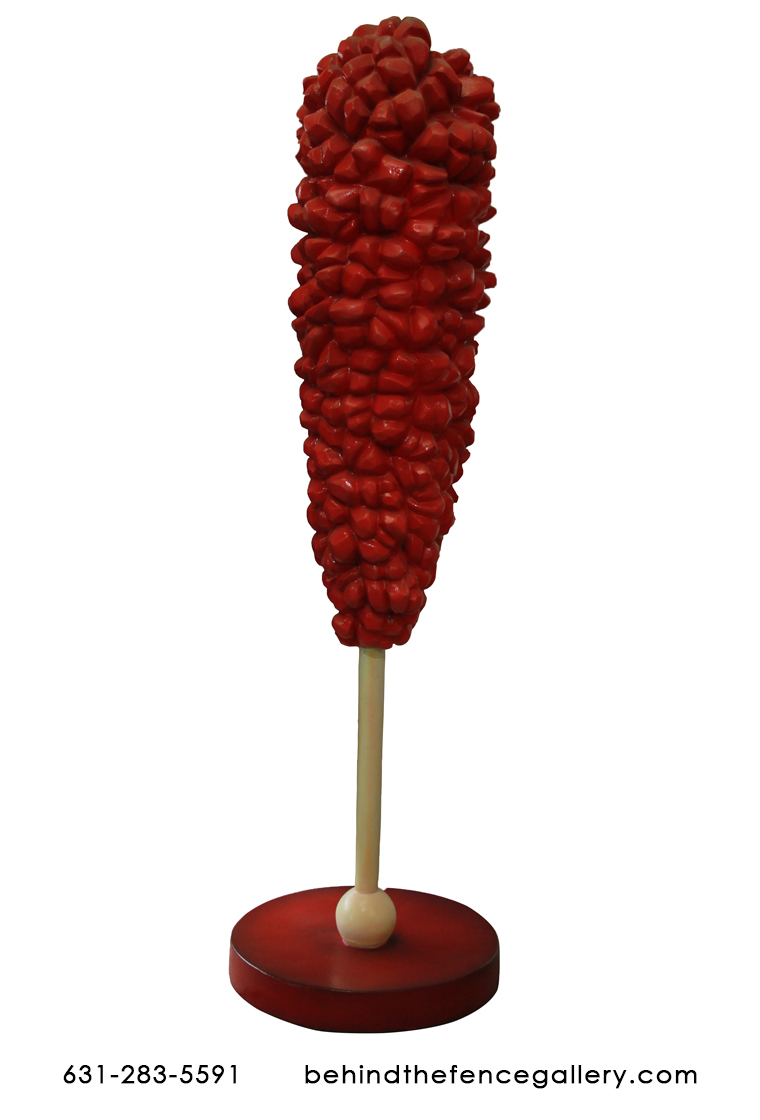 Large Red Rock Candy Fiberglass Statue