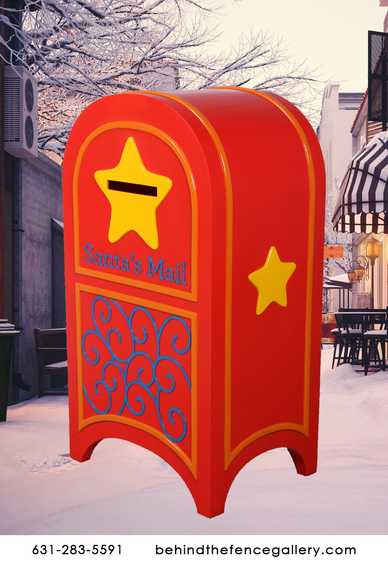Large Red Christmas Mail Box