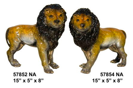 Bronze Lion Pair (Left and Right) - Click Image to Close