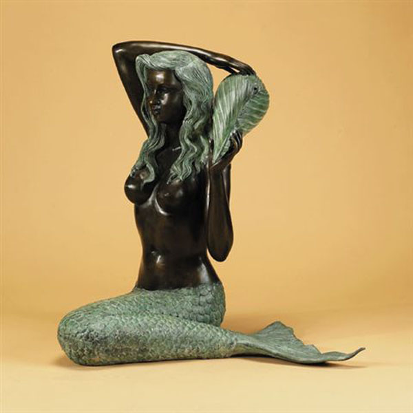 Bronze Mermaid Holding Shell