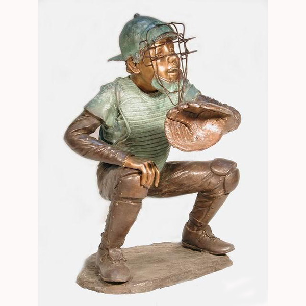 Bronze Baseball Catcher,Kid