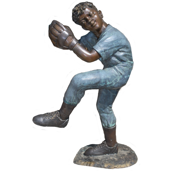 Bronze Baseball Pitcher, Kid