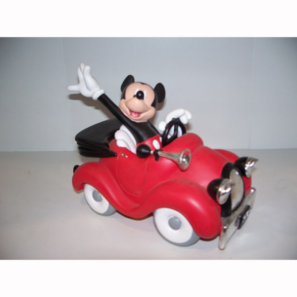Mickey in a Race Car