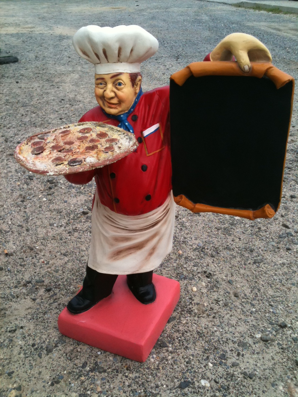 Pizza Chef in Italian Flag Colors with Pizza