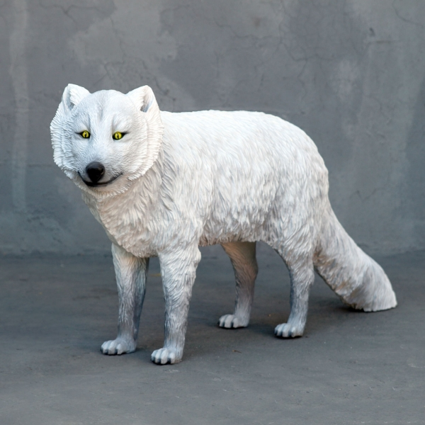 White Arctic Fox Statue