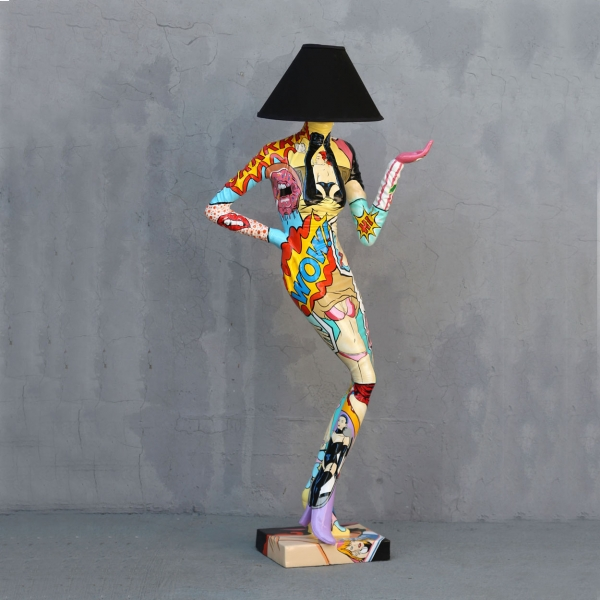 Lady Lamp Pop-Art 6ft