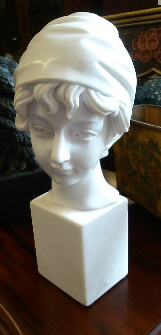 White Marble bust of a young Girl