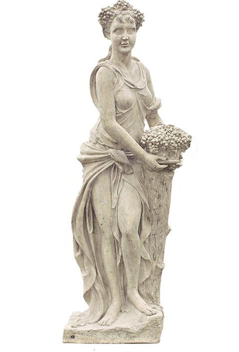 Four Seasons- Lady Autumn Statue with Base