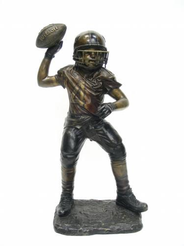 Bronze Boy Play Football
