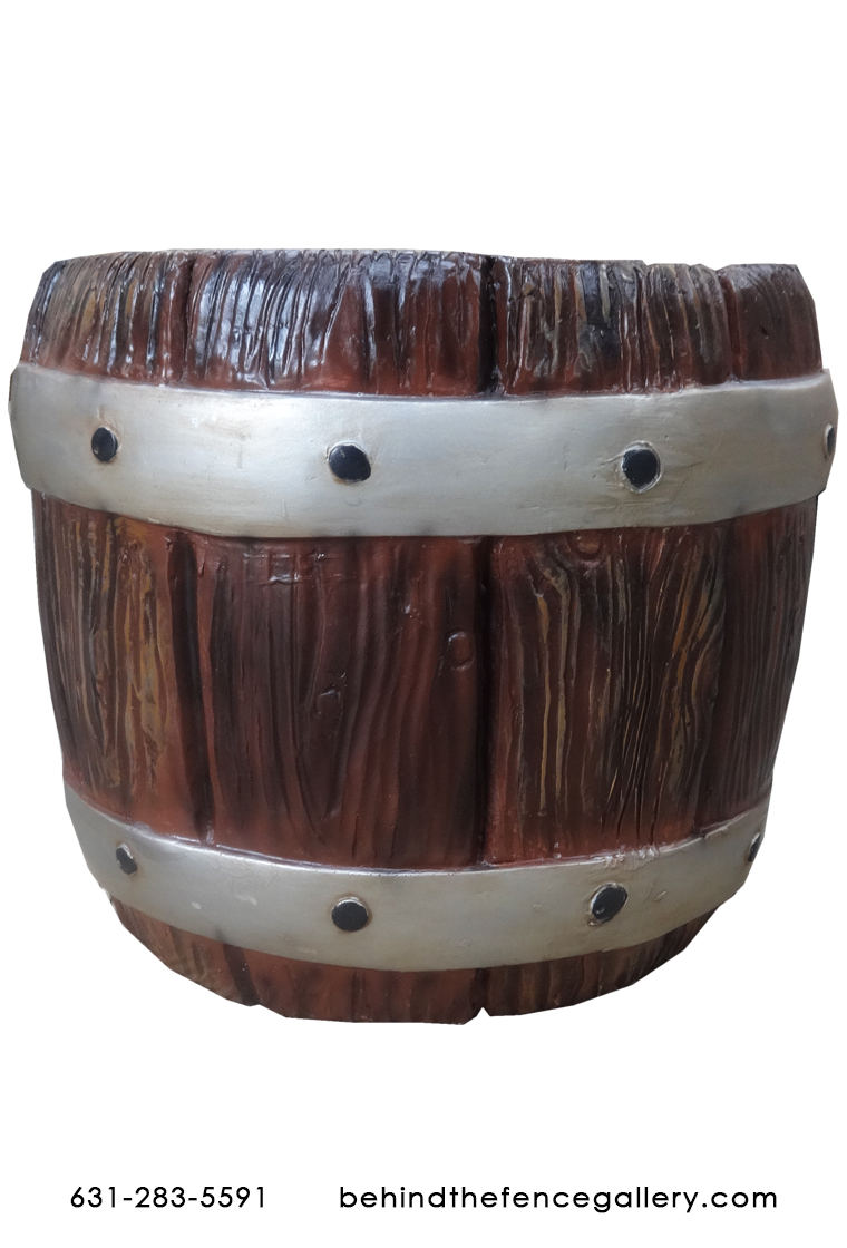 Small Open Fiberglass Pirate Barrel