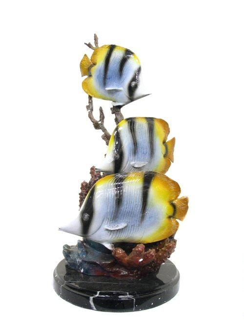 Butterflyfish with marble Base