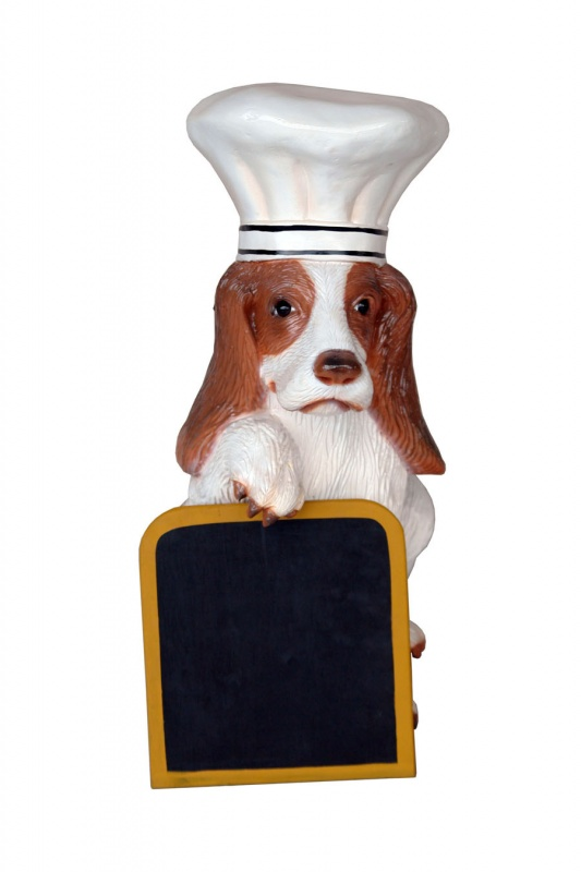 Dog Chef with Menu Board