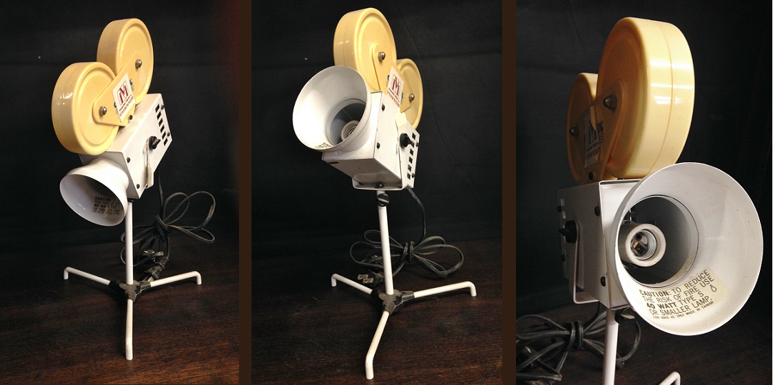 Vintage Image Video Camera with Lamp