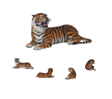 Tiger Lying - Click Image to Close