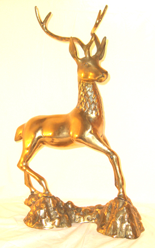 Brass Deer - Click Image to Close