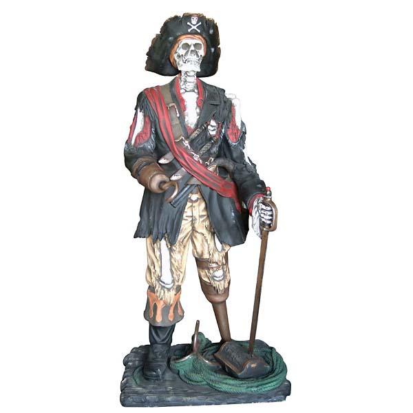 Life Size Fiberglass Resin Pirate Statues