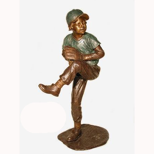 Bronze Baseball Pitcher