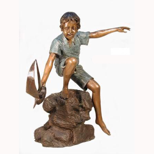 Bronze Sailing Boy