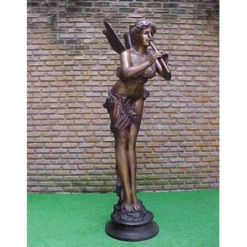 Bronze Fairy Lady with Flute - Large