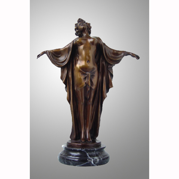 Bronze Dancer with Marble Base