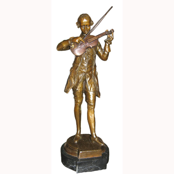 Bronze Mozart with Violin