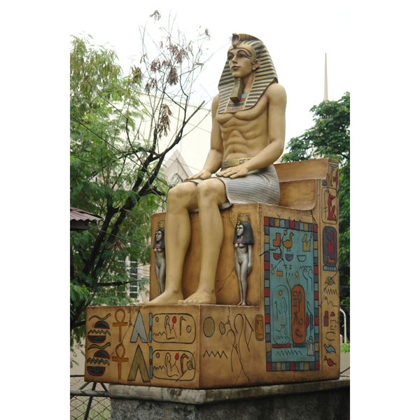 Egyptian Sitting on Throne ( Realistic Finish )