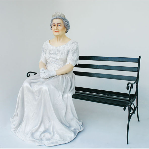 Queen Sitting on Bench