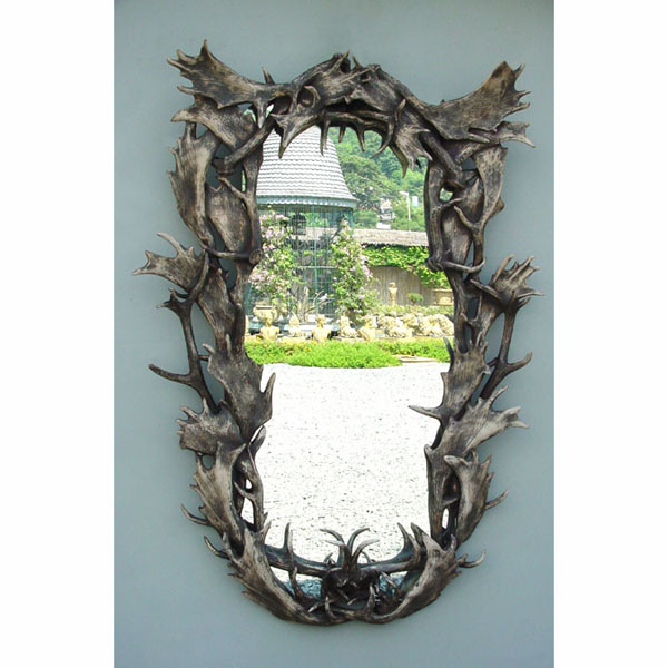 Large Antler Mirror