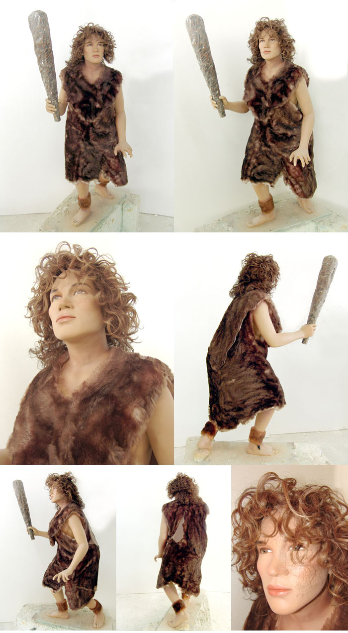 Life Size Prehistoric Cave Woman Statue
