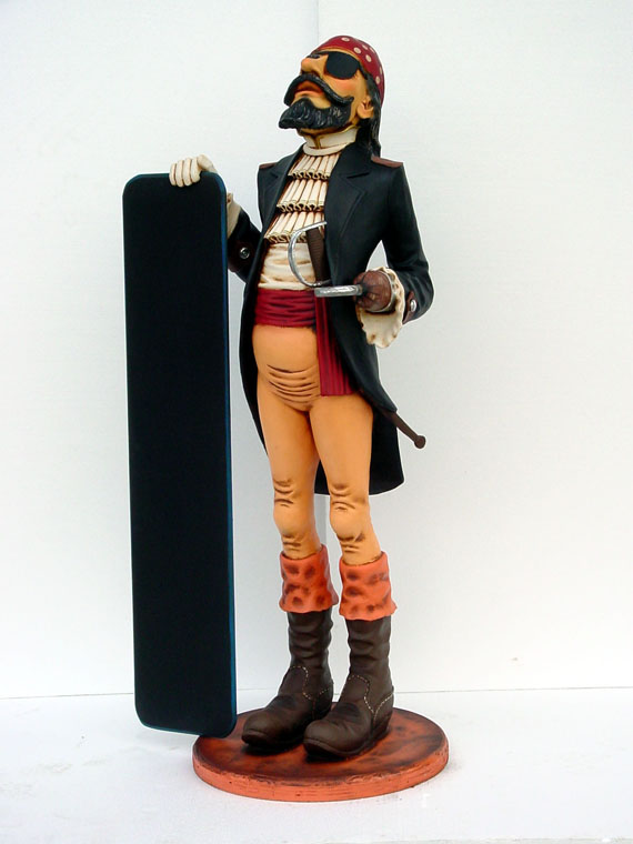 Life Size Fiberglass Resin Pirate Statues