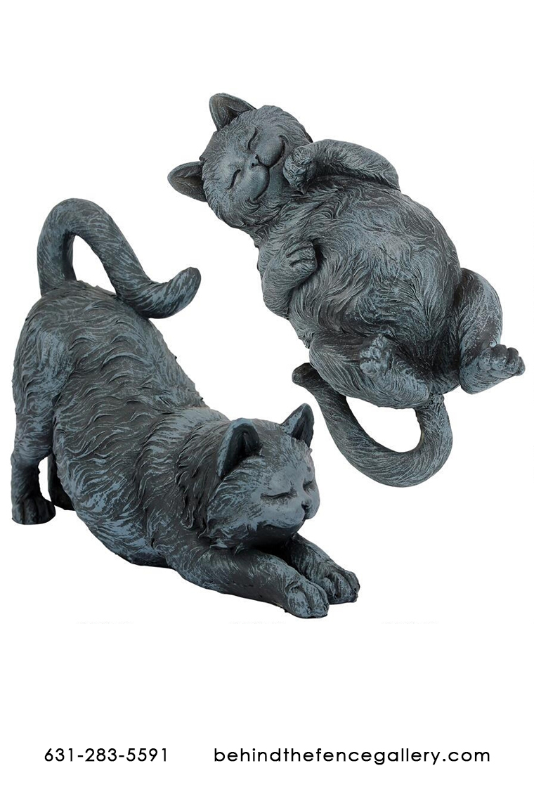 Playful Cat Statue Set